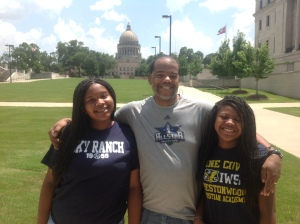 In front of the Mississippi State Capitol.