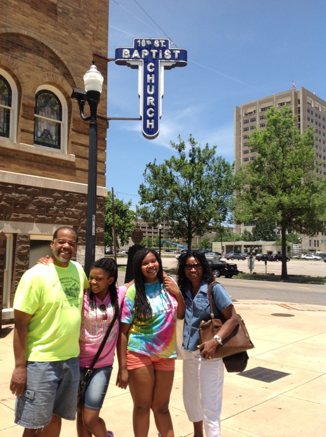 The 16th Street Baptist Church was one of many historic Civil Rights sites that we visited.  The 1963 boming at this church took the lives of four little Black girls about the same age of my Cubs today. It was a great life lesson for us all.