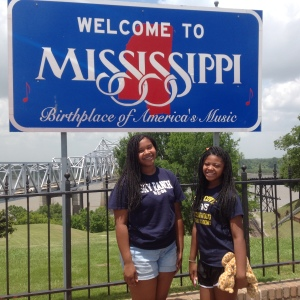We crossed the Mississippi state line.
